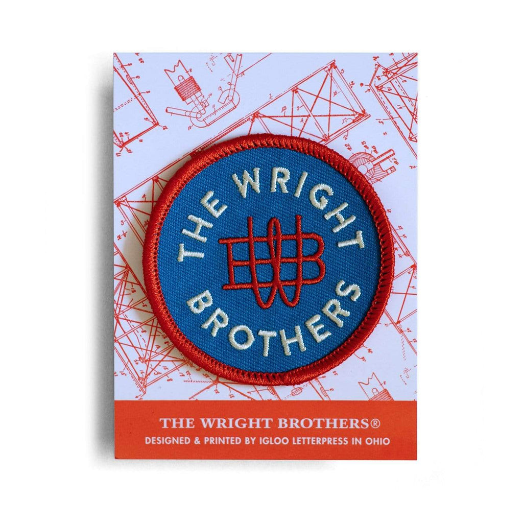 Igloo Letterpress Accessories The Wright Brothers insignia embroidered patch