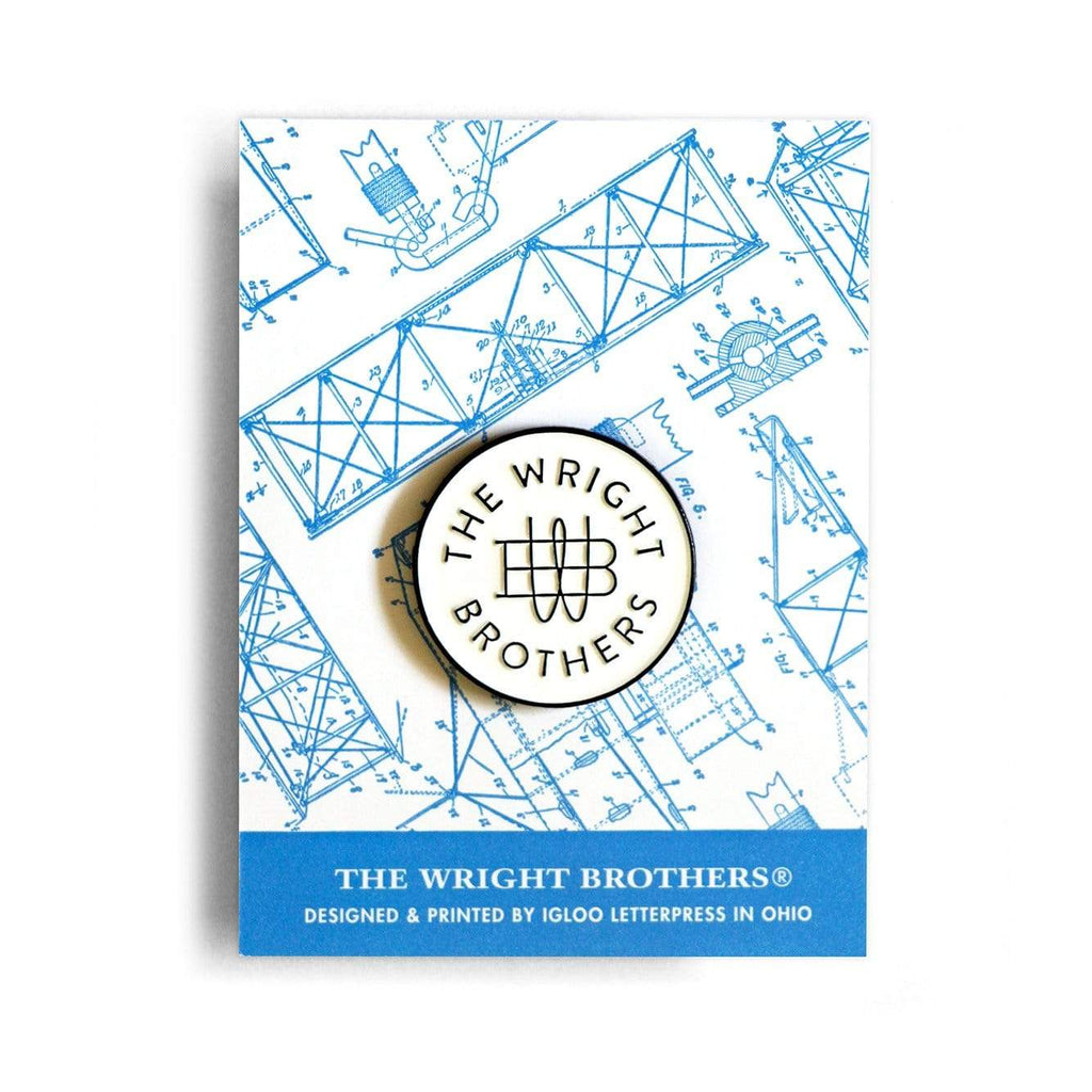 Igloo Letterpress Accessories The Wright Brothers insignia pin