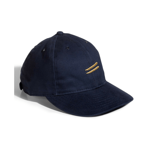Cotton twill flight cap | fitted, Navy