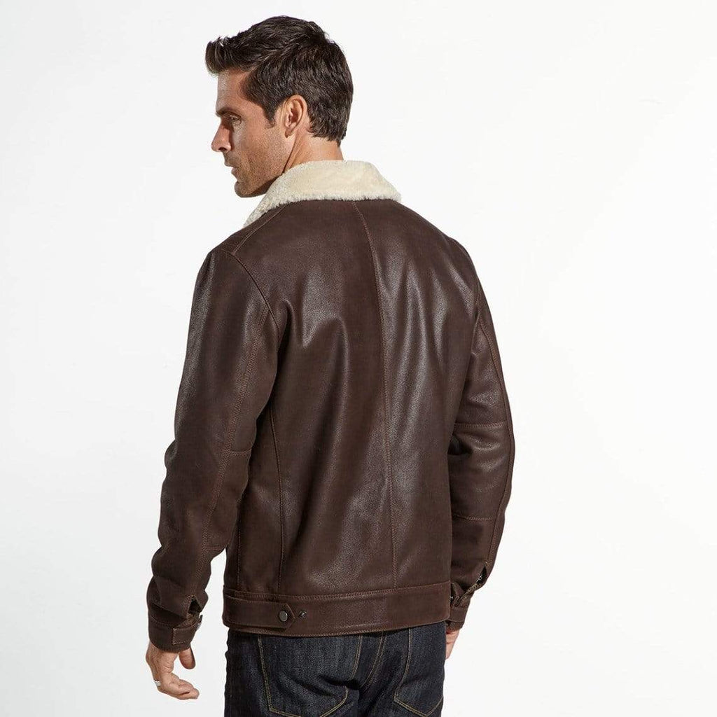 The Wright Brothers USA Jacket Leather flight jacket | shearling collar