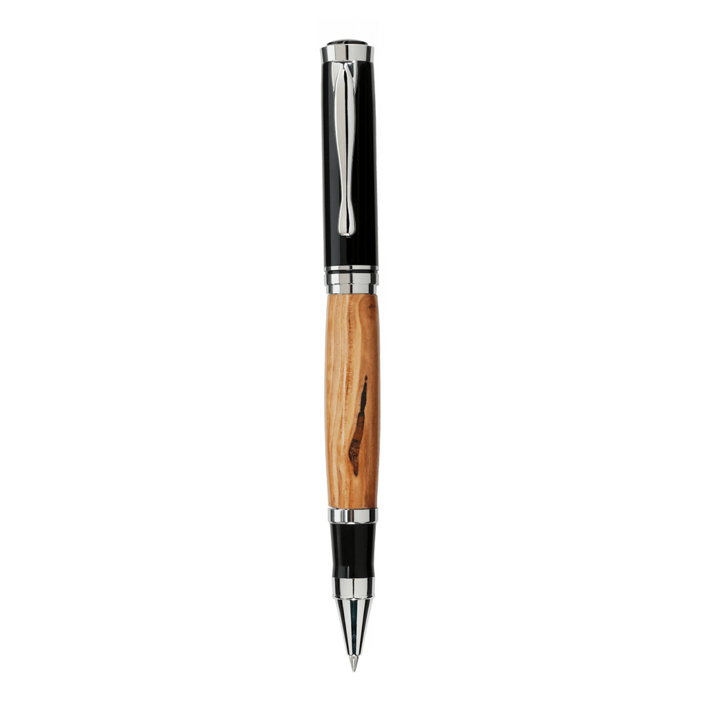 The Wright Brothers USA Pens and Notepads Hawthorn Hill rollerball pen | Bright Chrome plated
