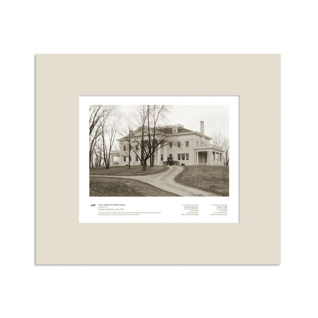 The Wright Brothers USA prints 14 x 11 Hawthorn Hill Series 1.6 | matted Giclée print