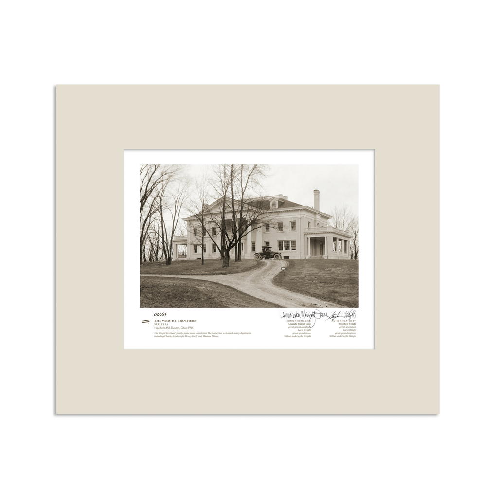 The Wright Brothers USA prints 14 x 11 Hawthorn Hill Series 1.6 | signed & matted Giclée print