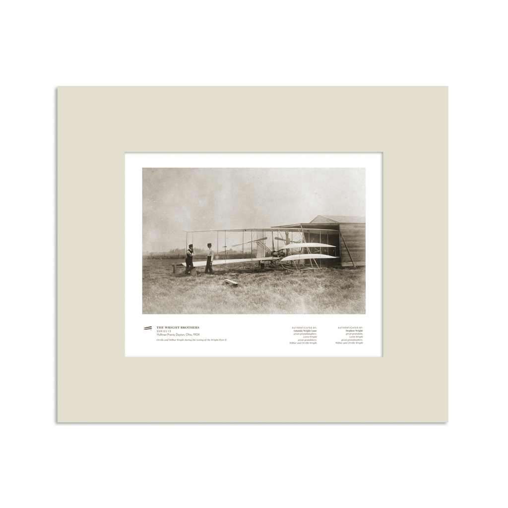 The Wright Brothers USA prints 14 x 11 Huffman Prairie Series 1.2 | matted Giclée print