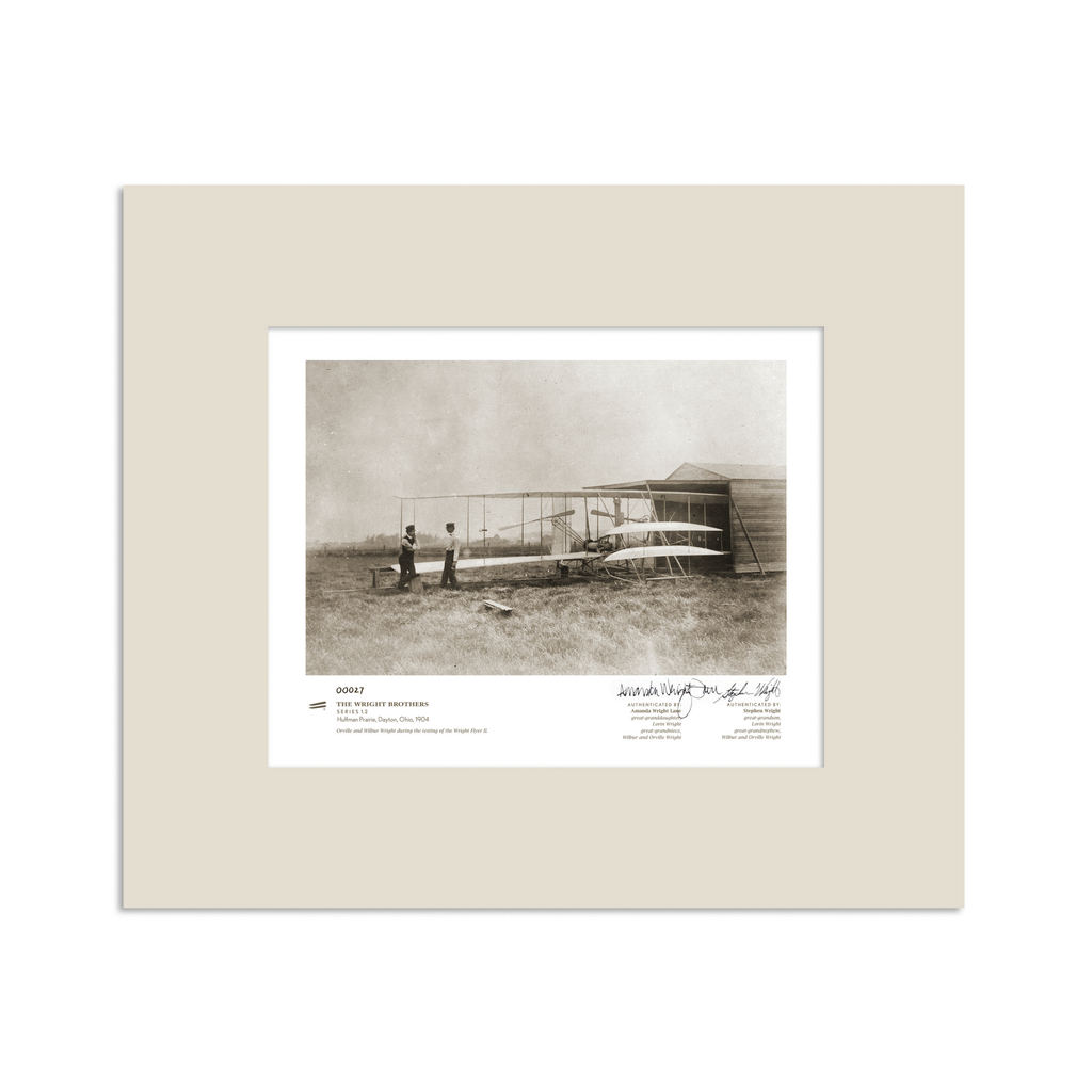 The Wright Brothers USA prints 14 x 11 Huffman Prairie Series 1.2 | signed & matted Giclée print