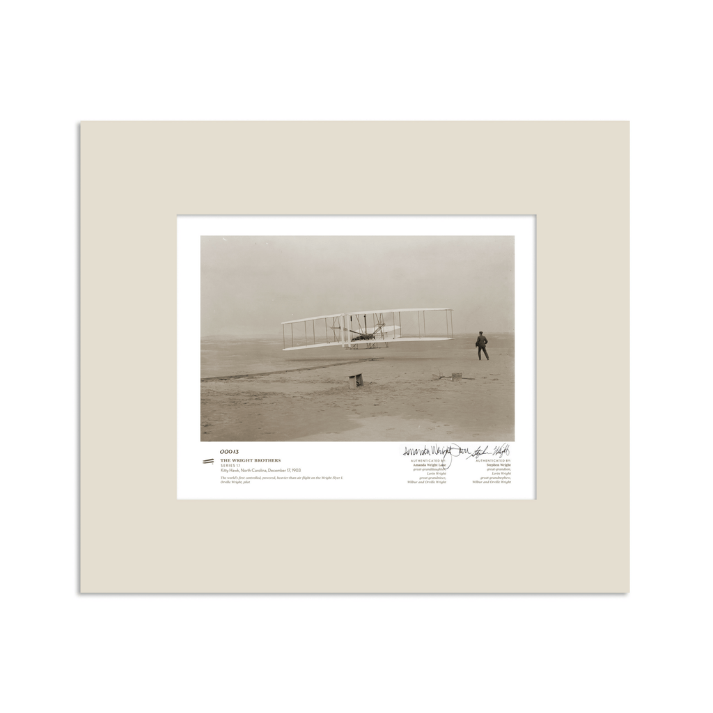 The Wright Brothers USA prints 14 x 11 Kitty Hawk Series 1.1 | signed & matted Giclée print
