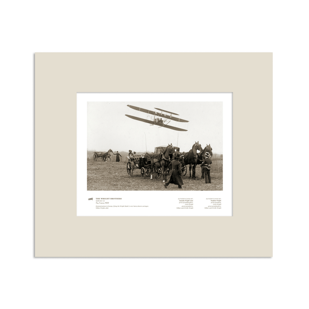 The Wright Brothers USA prints 14 x 11 Pau Series 1.4 | matted Giclée print