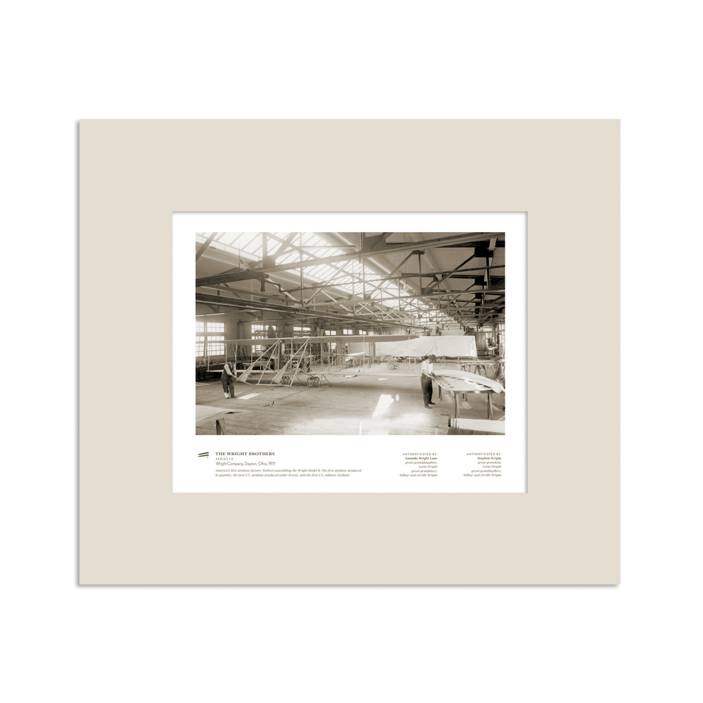 The Wright Brothers USA Prints 14 x 11 Wright Company Series 1.5 | matted Giclée print