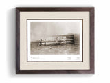 The Wright Brothers USA Prints 24 x 18 Huffman Prairie Series 1.2 | framed Giclée print (larger formats)