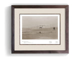 The Wright Brothers USA Prints 24 x 18 Kitty Hawk Series 1.1 | framed Giclée print (larger formats)