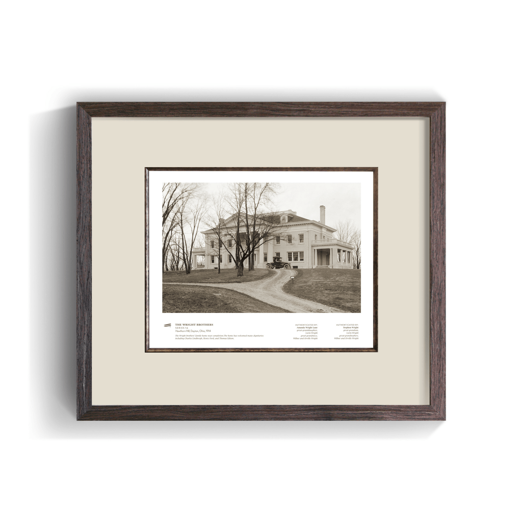 The Wright Brothers USA Prints Hawthorn Hill Series 1.6 | framed Giclée print (14x11)