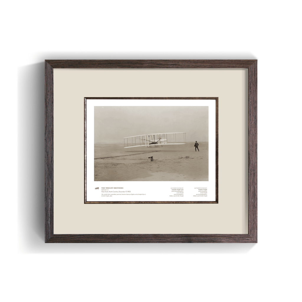 The Wright Brothers USA Prints Kitty Hawk Series 1.1 | framed Giclée print (14x11)
