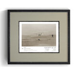 The Wright Brothers USA prints Kitty Hawk Series 1.1 | signed & framed Giclée print (14x11)