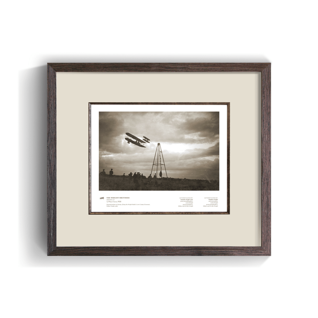 The Wright Brothers USA prints Le Mans Series 1.3 | framed Giclée print (14x11)