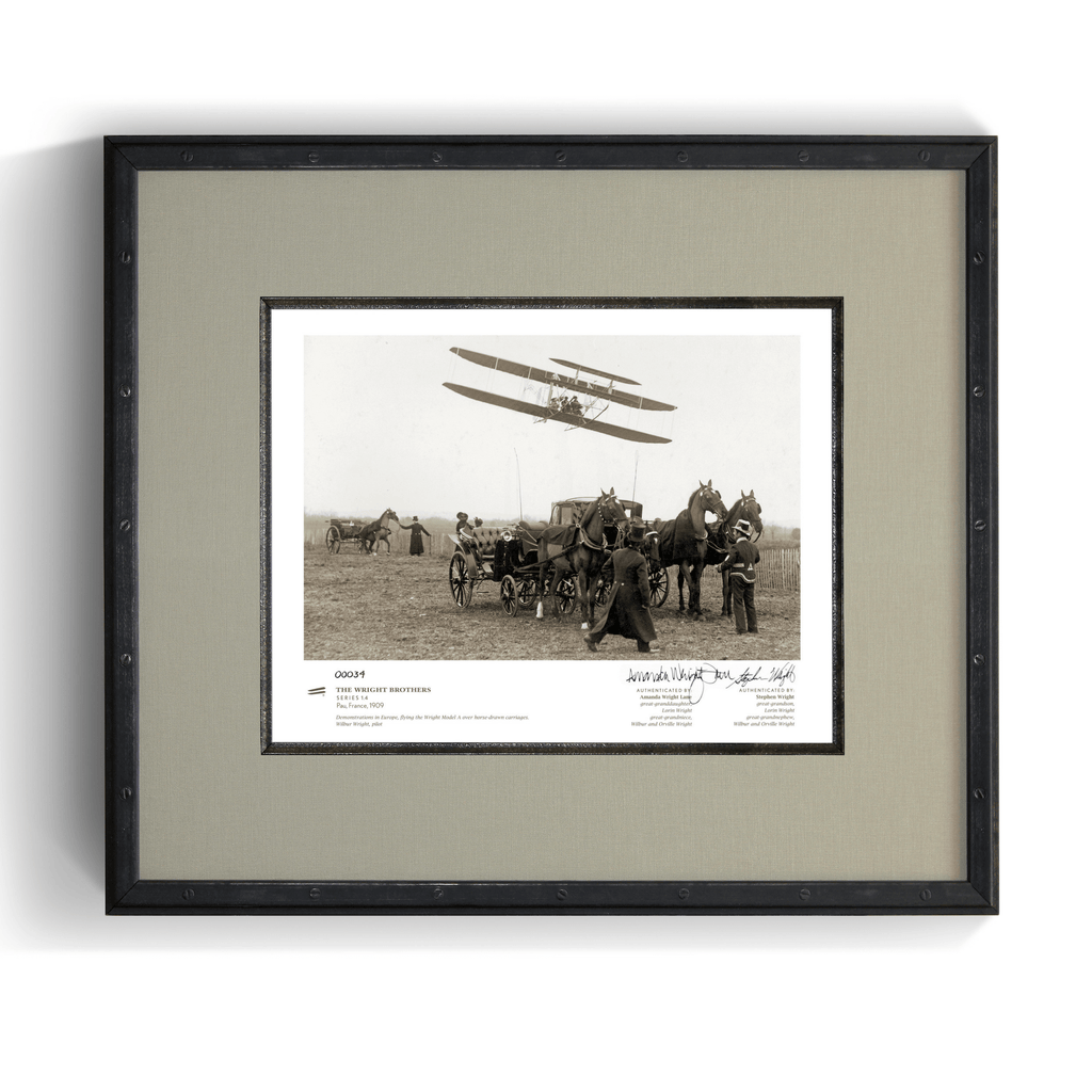 The Wright Brothers USA prints Pau Series 1.4 | signed & framed Giclée print (14x11)