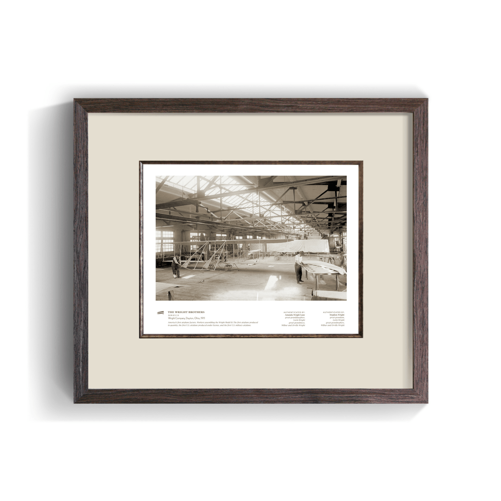 The Wright Brothers USA Prints Wright Company Series 1.5 | framed Giclée print (14x11)