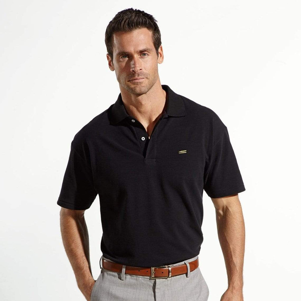 The Wright Brothers USA Shirts & Sweaters Cotton pique tennis shirt | Black