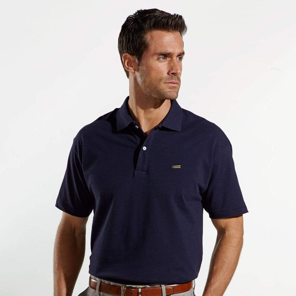 The Wright Brothers USA Shirts & Sweaters Cotton pique tennis shirt | Navy