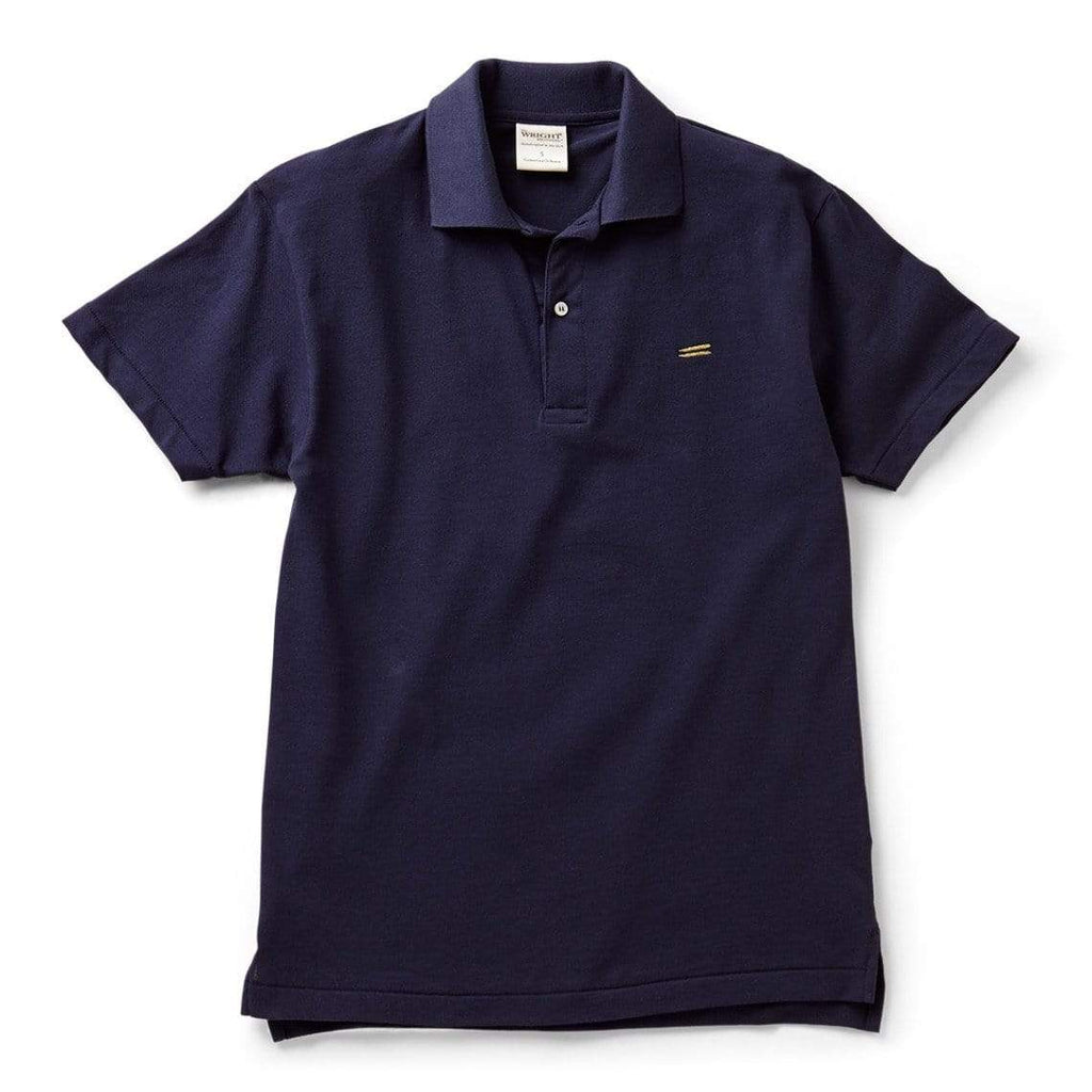 The Wright Brothers USA Shirts & Sweaters Navy / S Cotton pique tennis shirt | Navy