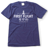 The Wright Brothers USA Shirts & Sweaters S First Flight 12 17 03 Kill Devil Hills. T-shirt | short sleeve, Tri-Indigo
