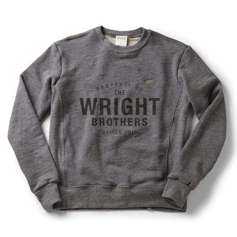 Property of the Wright School of Aviation classic crew sweatshirt | Zinc