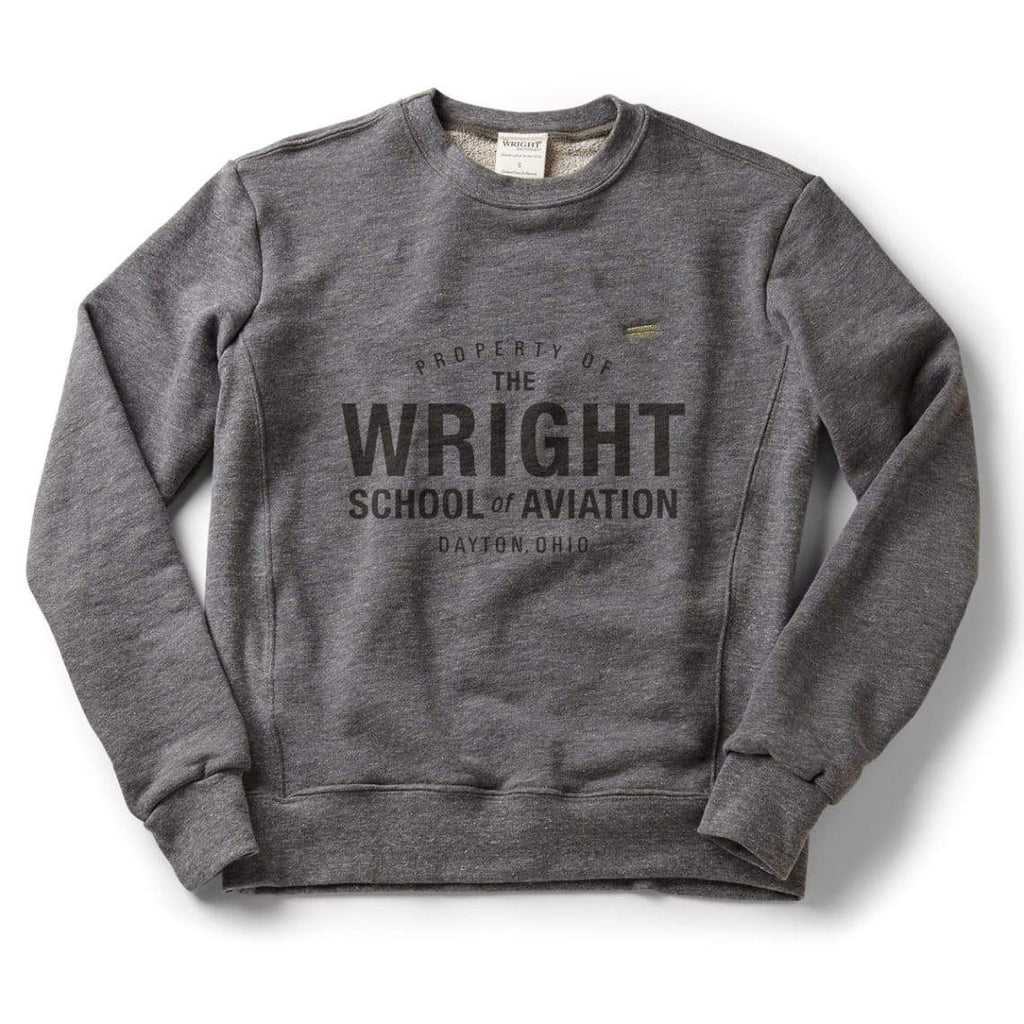 The Wright Brothers USA Shirts & Sweaters S Property of the Wright School of Aviation classic crew sweatshirt | Zinc