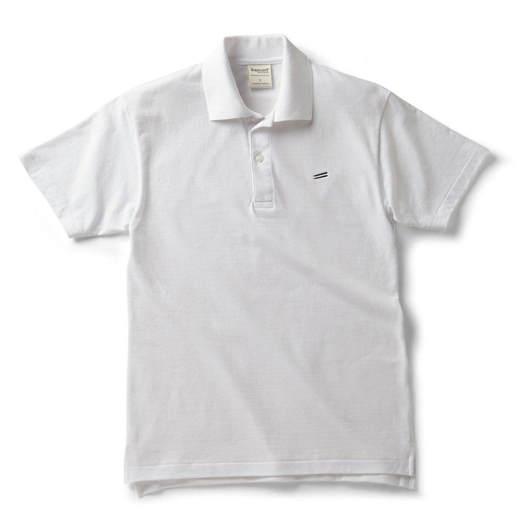 The Wright Brothers USA Shirts & Sweaters White / S Cotton pique tennis shirt | White