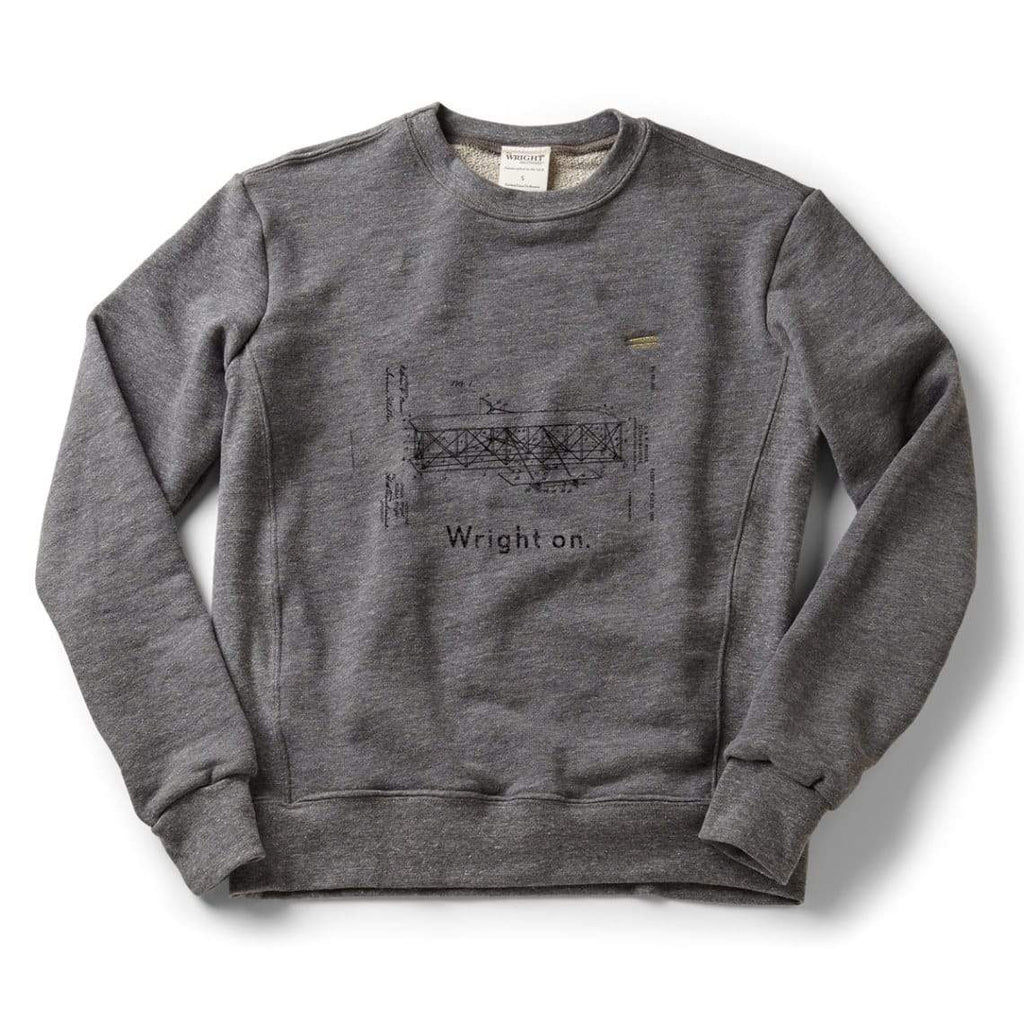 The Wright Brothers USA Shirts & Sweaters Wright on. classic crew sweatshirt | Zinc