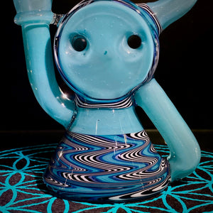 A1 Glass- Swiss Puck Recycler Ghost Aqua Azul