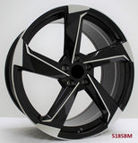 Wheels for AUDI. Model 5185BM ( SOLD AS SET ONLY )