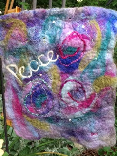 Wet Felting - Garden Flags