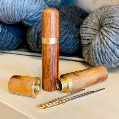 Sandalwood Darning Needle Case