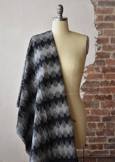 Ikat - Grey & Black