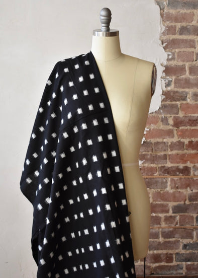 Medium Square Ikat- Black