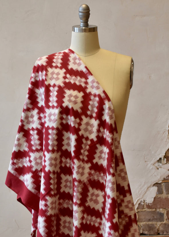Double Ikat Pink/Red