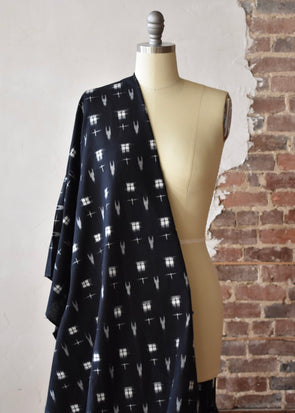 Squares & Arrows Ikat - Black
