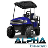 "Black ""ALPHA"" Off Road Body Kit for Club Car Precedent"