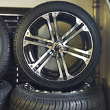 "14"" Rockstar Golf Cart Wheel and Low Profile Tire Kit(4)"