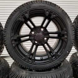 "12"" Black Rockstar Wheel and Tire Kit"
