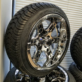 "14"" Dominator Chrome Wheel and Tire kit"