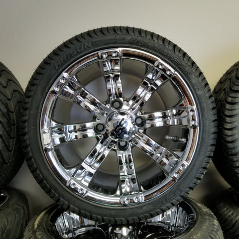 "12"" Tempest Chrome Wheel and Tire Kit"
