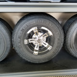 Wheel Cover Black and Chrome 8""