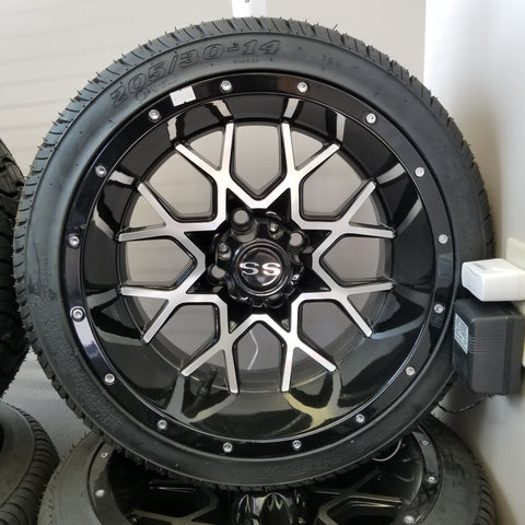 "14"" Wicked Low Profile Tire and Wheel Kit.(4)"
