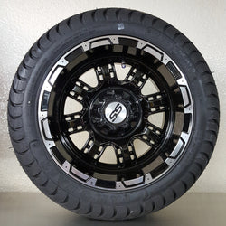 "12"" Black Terminator Wheel and Low Profile Tire Kit(4)"