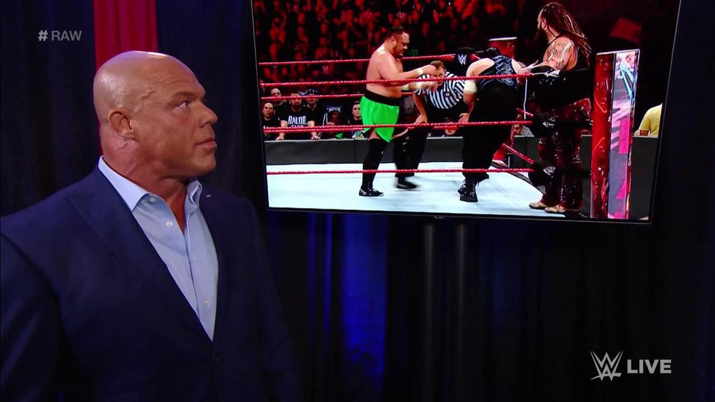 Who builds momentum toward the #ExtremeRules #Fatal5Way? #RAW General Manager #RealKurtAngle is very interested to…