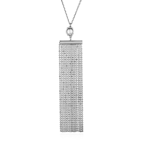 Necklace with Multi Chain Pendant in Sterling Silver