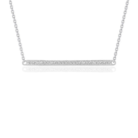 Diamond Bar Pendant in 14K White Gold (1/4 ct. tw.)