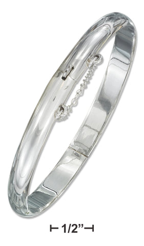 STERLING SILVER 7MM HIGH POLISH BANGLE BRACELET