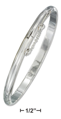STERLING SILVER 5MM HIGH POLISH BANGLE BRACELET