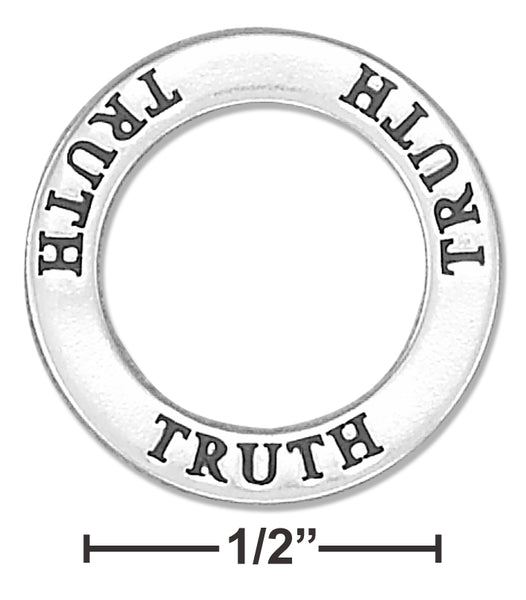 "STERLING SILVER ""TRUTH"" AFFIRMATION BAND PENDANT"